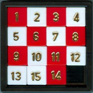 15 tile sliding puzzle